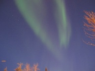 early evening aurora